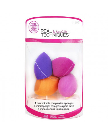 Real Techniques 4 Mini Miracle Complexion Sponges at SIS STYLE
