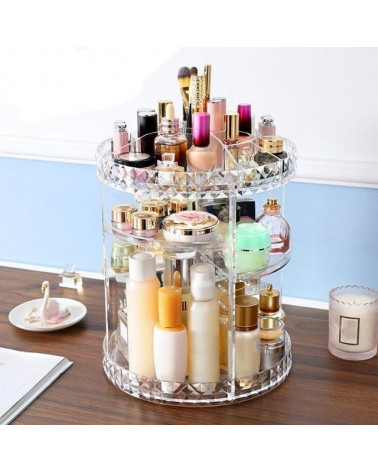 Rotating Stand Cosmetics organization at SIS STYLE