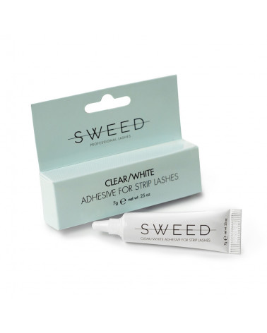 Sweed Adhesive for Strip Lashes Clear/White - SIS STYLE
