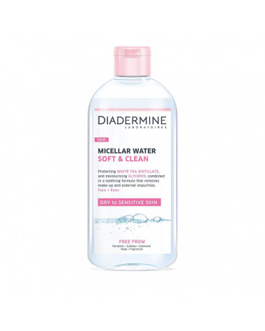 Diadermine Cleanser Micellar Water Soft & Clean (400ml) - sis-style.gr