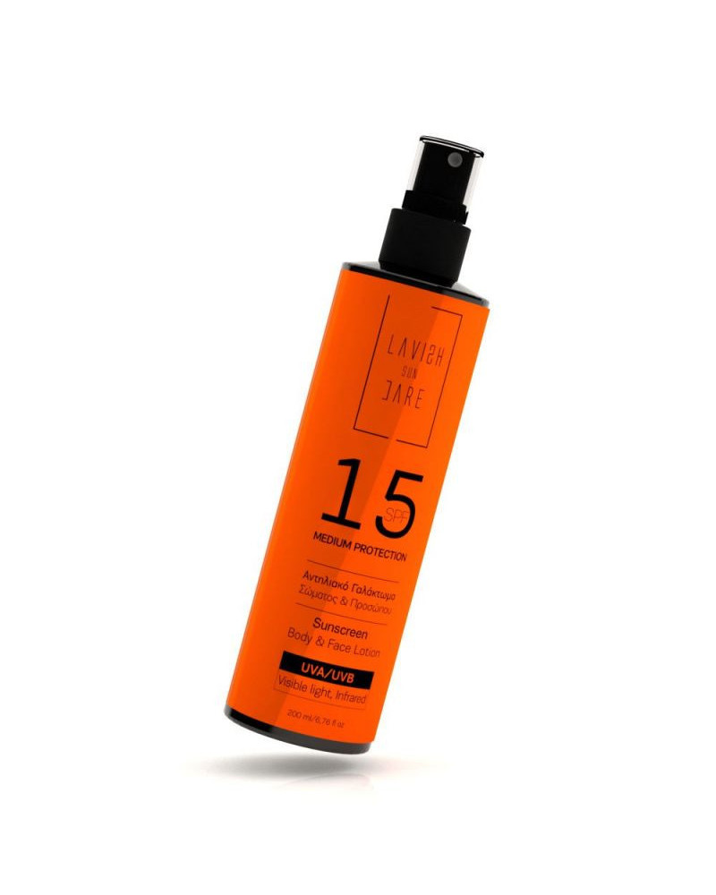 Lavish Care Sunscreen Body and Face Lotion SPF15 200ml - sis-style.gr