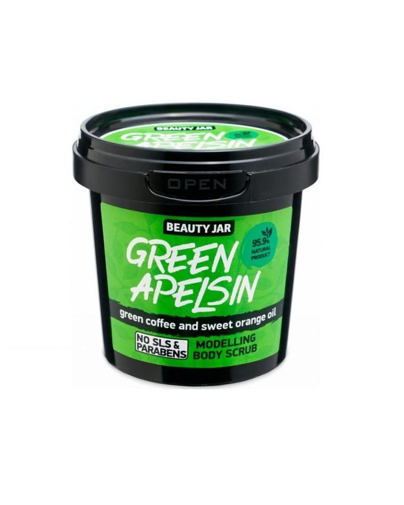 Beauty Jar Body Scrub GREEN APELSIN 200gr - sis-style.gr