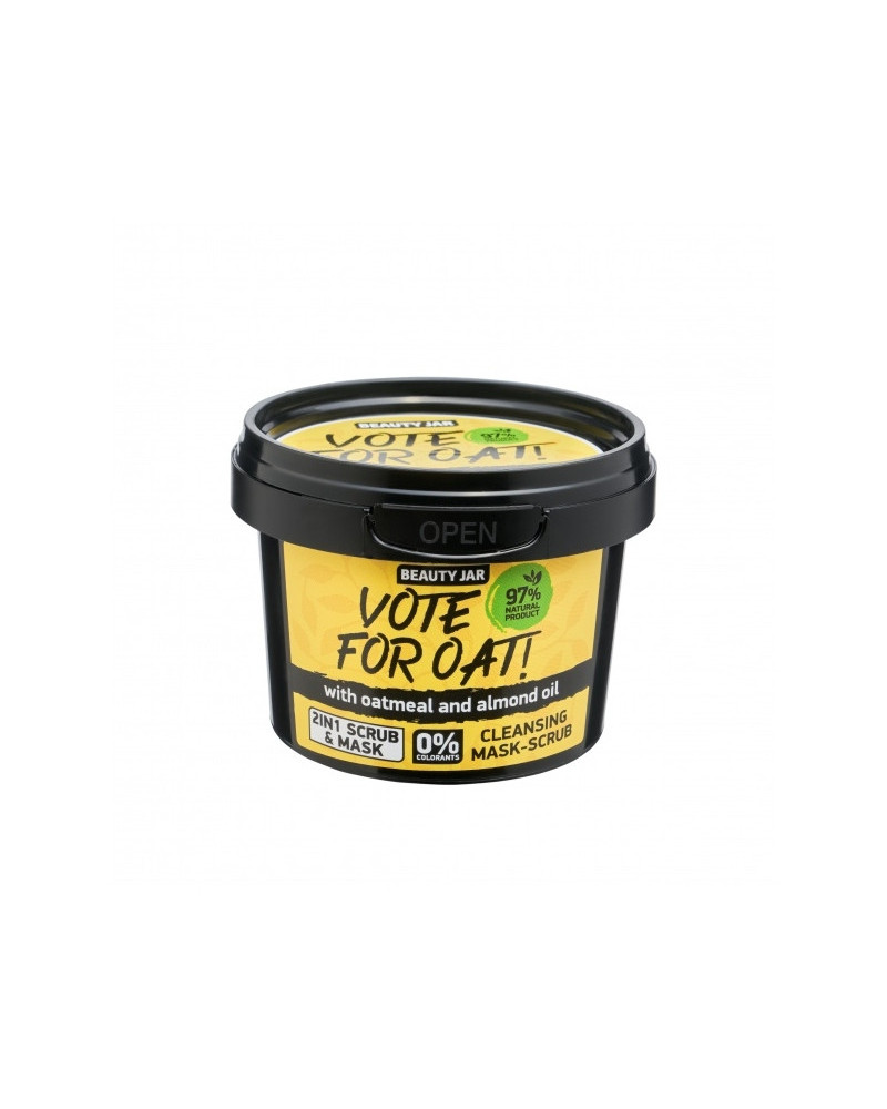 Beauty Jar VOTE FOR OAT! Μάσκα/Scrub Προσώπου 100gr - sis-style.gr