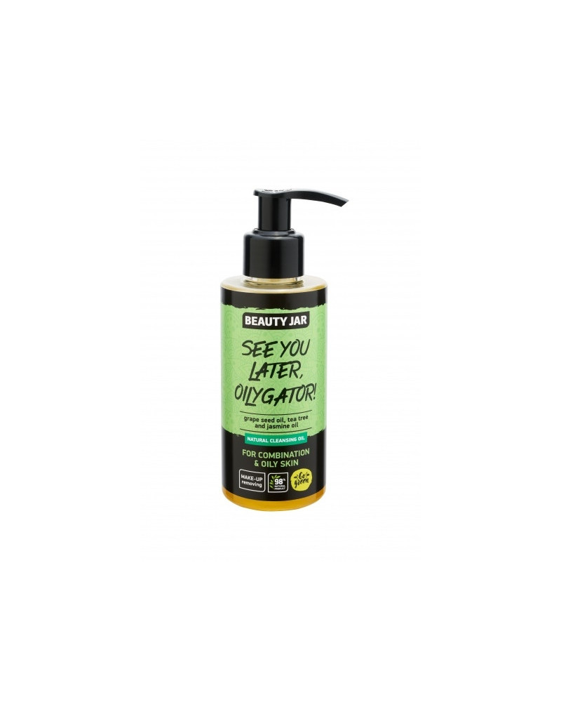 Beauty Jar Cleansing Oil See You Later, Oilygator! 150gr - sis-style.gr