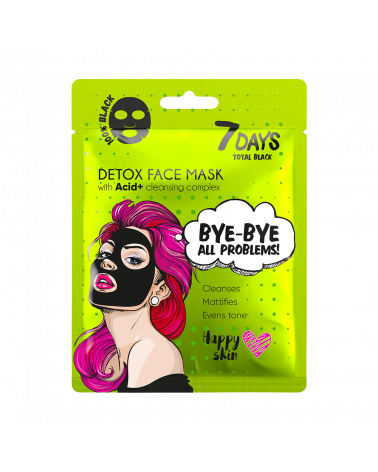 7 DAYS BLACK Bye-Bye, Skin Problems Sheet Mask 25g - SIS STYLE