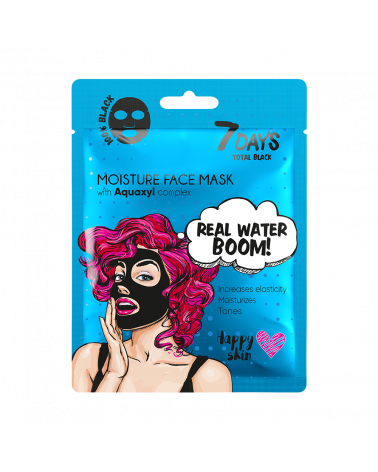 7 DAYS BLACK Real Water Boom! Sheet Mask 25g - sis-style.gr