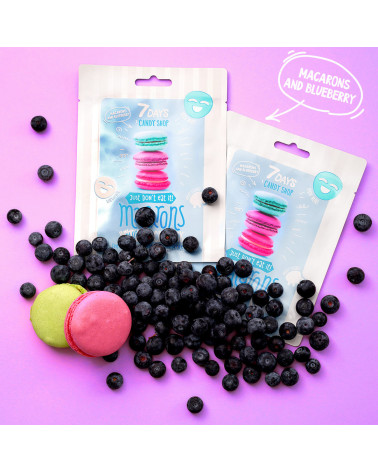 7 DAYS CANDY SHOP Macarons Sheet Mask 25g - SIS STYLE