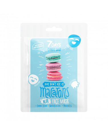 7 DAYS CANDY SHOP Macarons Sheet Mask 25g - sis-style.gr