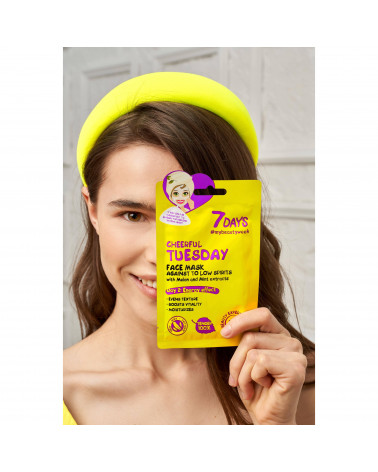 7 DAYS Cheerful Tuesday Sheet Mask 28g at SIS STYLE