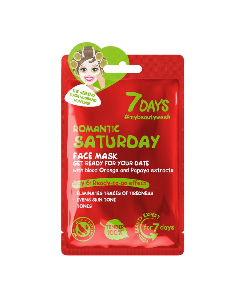 7 DAYS Romantic Saturday Sheet Mask 28g at SIS STYLE