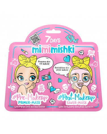 7 DAYS MIMIMISHKI PRE & POST MakeUp Pink 25g/25g at SIS STYLE