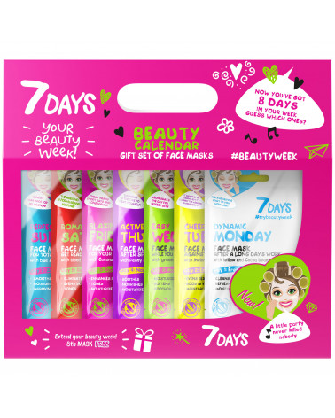 7 DAYS Gift set Beauty Calendar, 8 MASKS (mix) - SIS STYLE