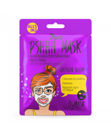 7 DAYS PSHHH Oxygen Boom Sheet Mask 25g at SIS STYLE