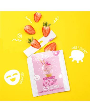 7 DAYS CANDY SHOP Ice Cream Sheet Mask - sis-style.gr