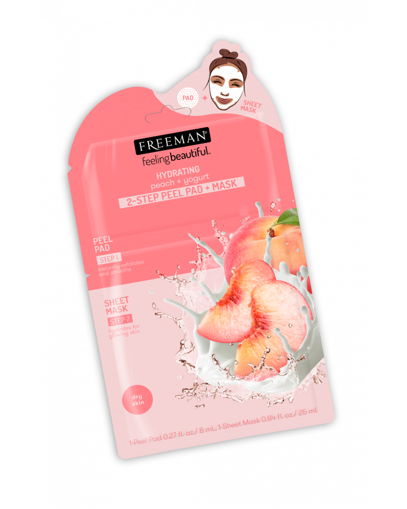 Freeman HYDRATING peach + yogurt 2-STEP PEEL PAD + MASK - SIS STYLE