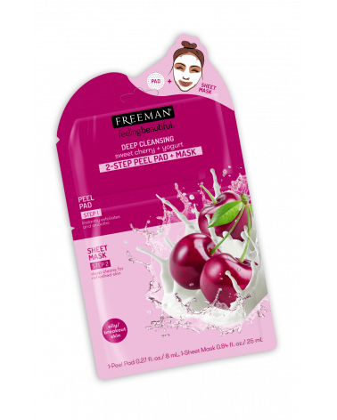 Freeman DEEP CLEANSING sweet cherry + yogurt 2-STEP PEEL PAD + MASK - SIS STYLE