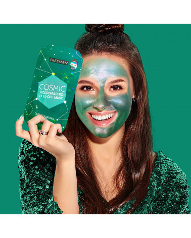 Freeman Cosmic Holographic Peel-Off Mask Deep Cleansing Jade - sis-style.gr