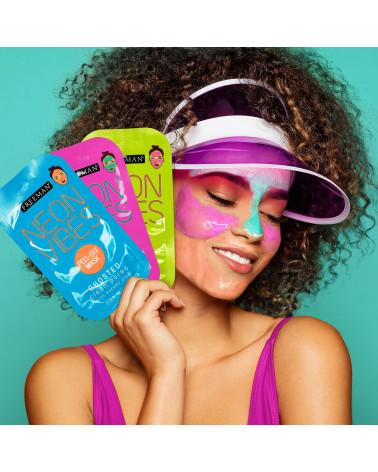 Freeman Neon Vibes No Stress Oil Absorbing Blue Lotus Clay Mask 10ml -