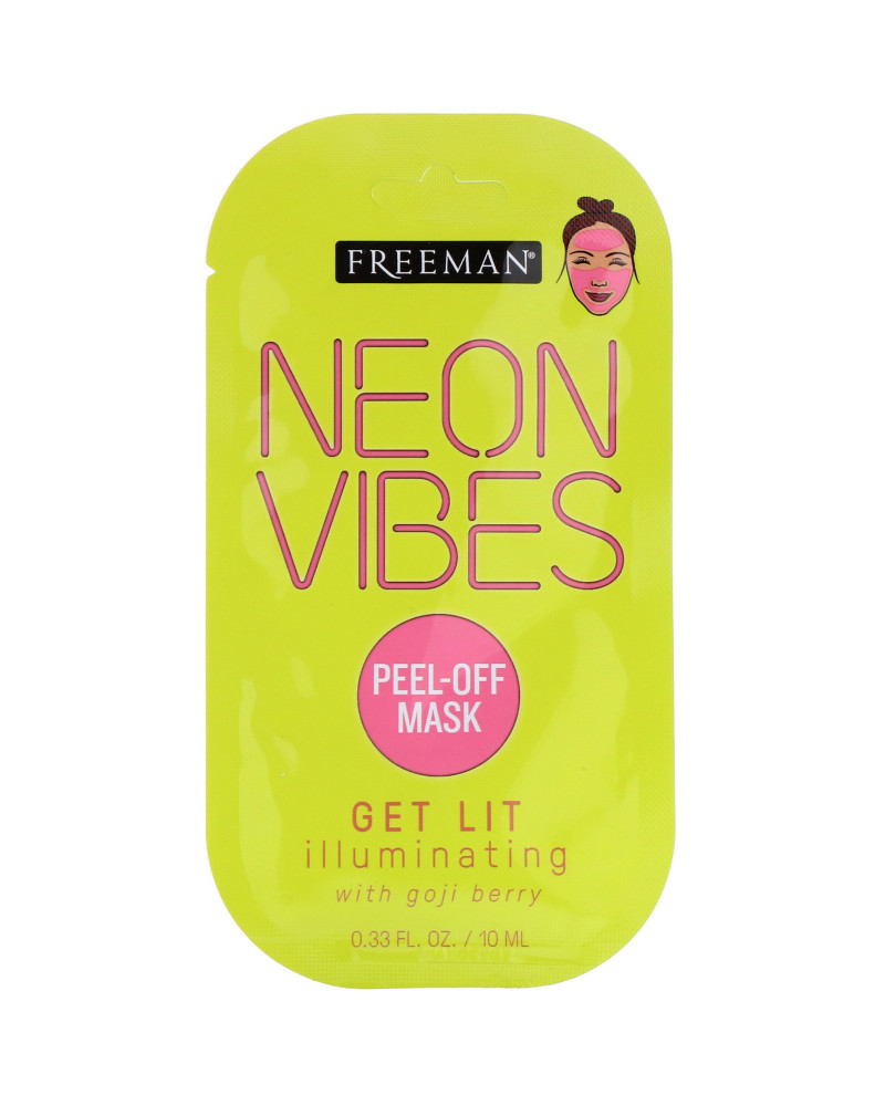 Freeman Neon Vibes Get Lit Illuminating Peel Off Mask with Goji Berry 10ml -