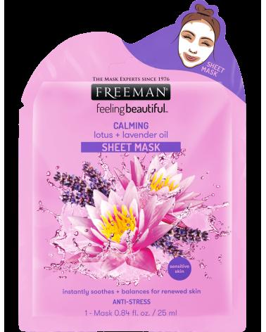 Freeman Calming Lotus & Lavender Oil Sheet Mask 25ml - sis-style.gr