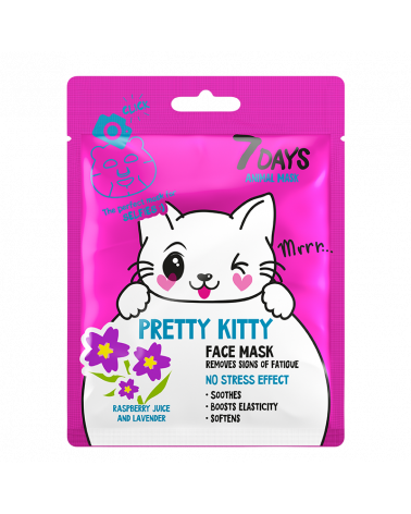 7 DAYS ANIMAL Pretty Kitty Sheet Mask 28g at SIS STYLE