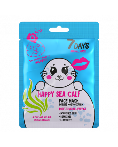7 DAYS ANIMAL Happy Sea Calf Sheet Mask 28g at SIS STYLE