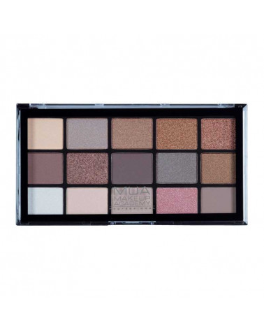 MUA Pro HEAVENLY NEUTRAL 15 Shade Eyeshadow Palette at SIS STYLE