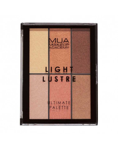 MUA Light Lustre Ultimate Palette - Bronze, Blush, Highlight at SIS STYLE