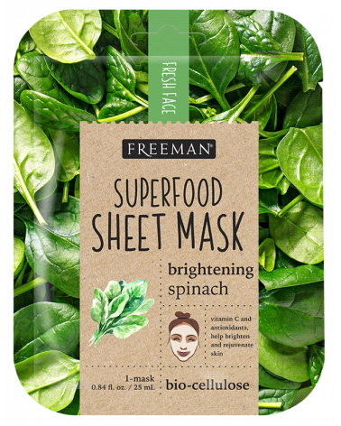 Freeman Brightening Spinach Superfood Mask 25ml - sis-style.gr