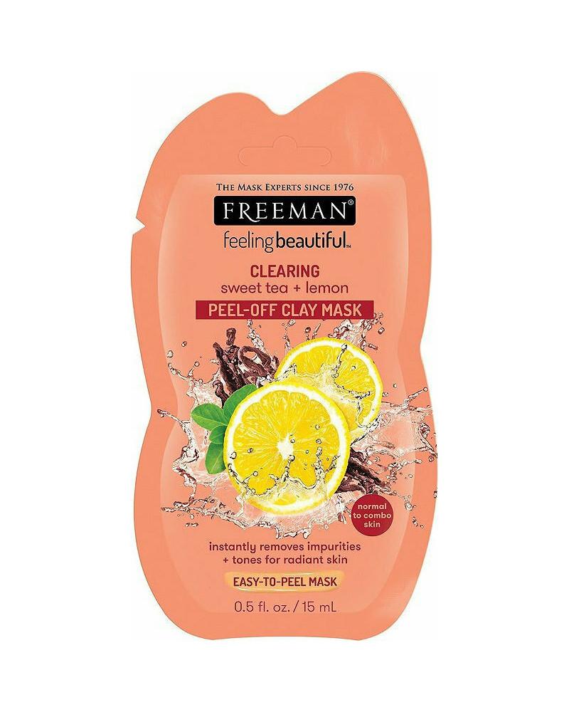 Freeman Clearing Sweet Tea & Lemon Peel-Off Clay Mask 15ml - sis-style.gr