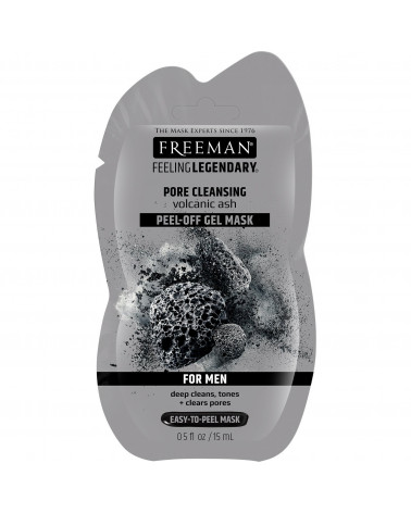 Freeman Pore Clearing Peel-off Gel Mask Volcanic Ash Men 15ml at SIS STYLE