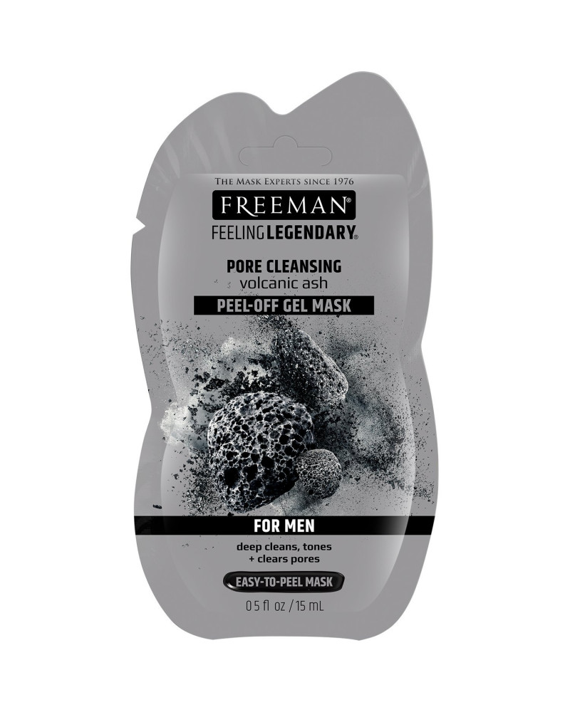 Freeman Pore Clearing Peel-off Gel Mask Volcanic Ash Men 15ml - sis-style.gr