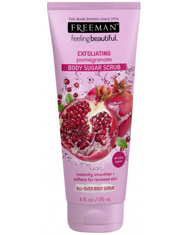 Freeman Pomegranate Sugar Scrub 175ml - sis-style.gr