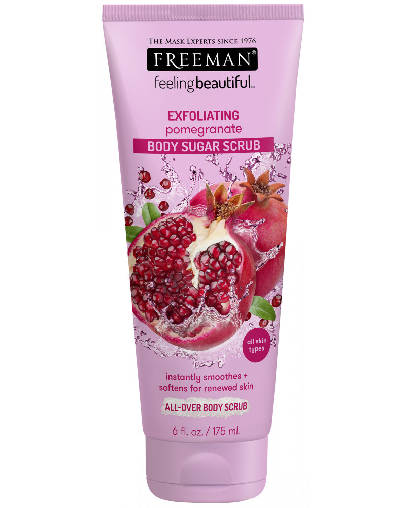 Freeman Pomegranate Sugar Scrub 175ml - sis-style.gr