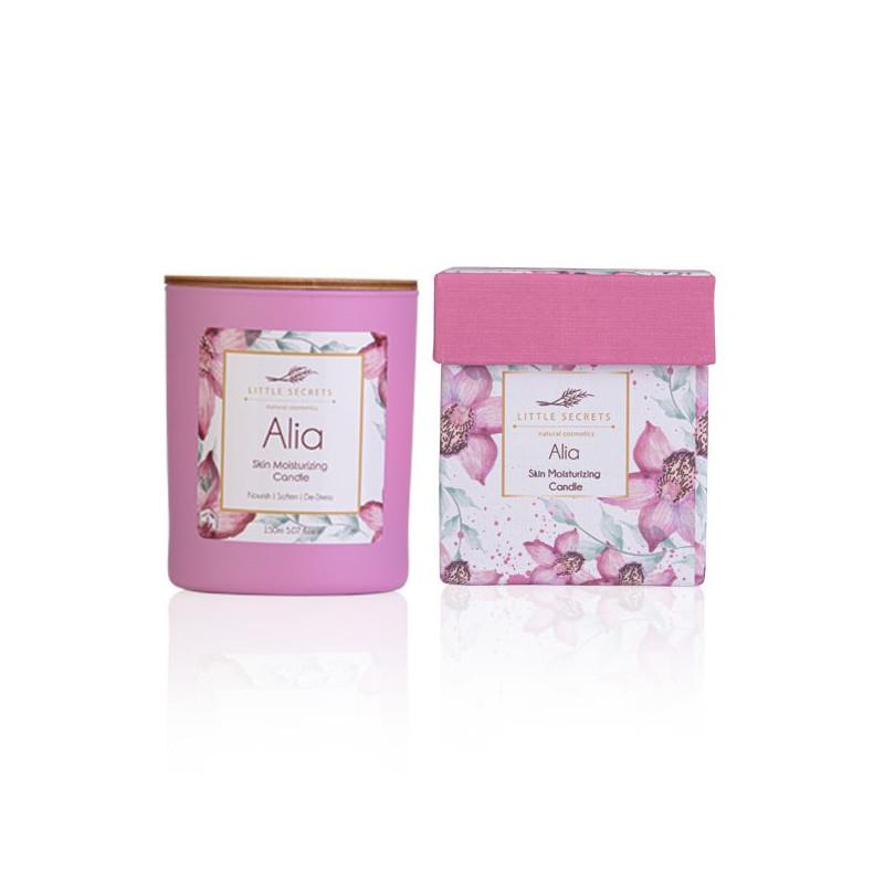 Alia Skin Moisturizing Candle - Ιδανικό για μασάζ σώματος - sis-style.gr