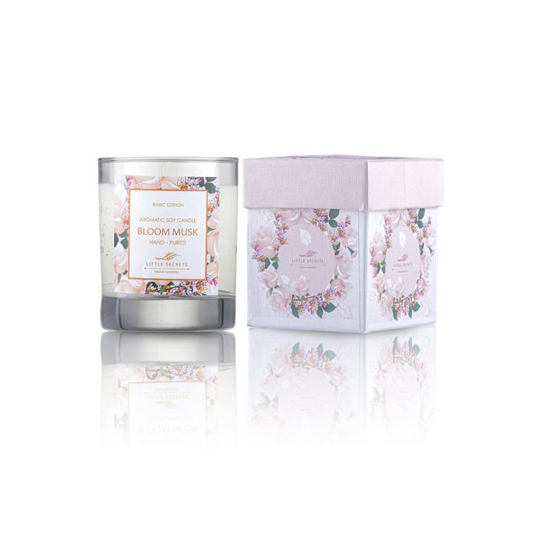 Bloom Musk Φυσικό αρωματικό κερί σόγιας - Ιδανικό για μασάζ σώματος -