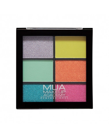 MUA 6 Shade Eyeshadow Palette Bright Lustre - sis-style.gr