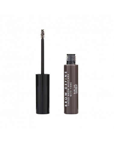 MUA Brow Define Tinted Mascara With Fibre - DARK BROWN - sis-style.gr
