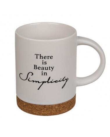 """Κούπα κεραμική """"Simplicity"""" λευκή - sis-style.gr"""