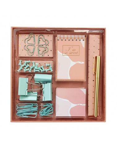 Σετ γραφικής ύλης pink army 40τεμ. σε κουτί δώρου - sis-style.gr