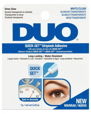 Duo Quick-Set Striplash Adhesive White/Clear - sis-style.gr